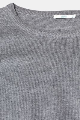 Fine knit dress with organic cotton, GUNMETAL 5, detail