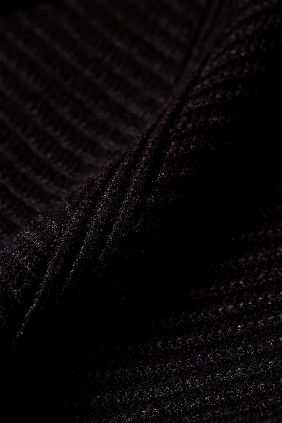Knitted dress with a ribbed texture, BLACK, detail image number 5