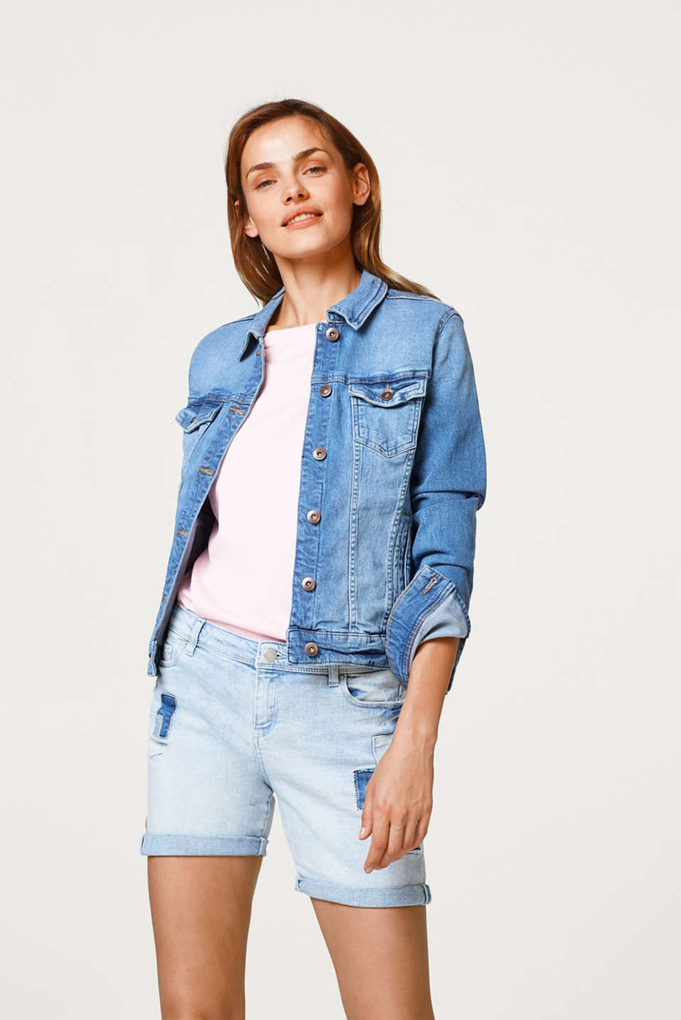edc - Giacca di jeans in denim stretch