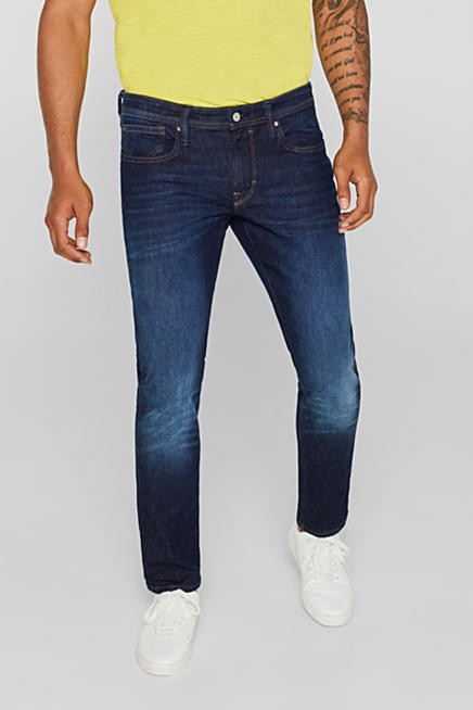21461b4568e Vintage wash stretch jeans · Blue BLUE DARK WASHED  Blue