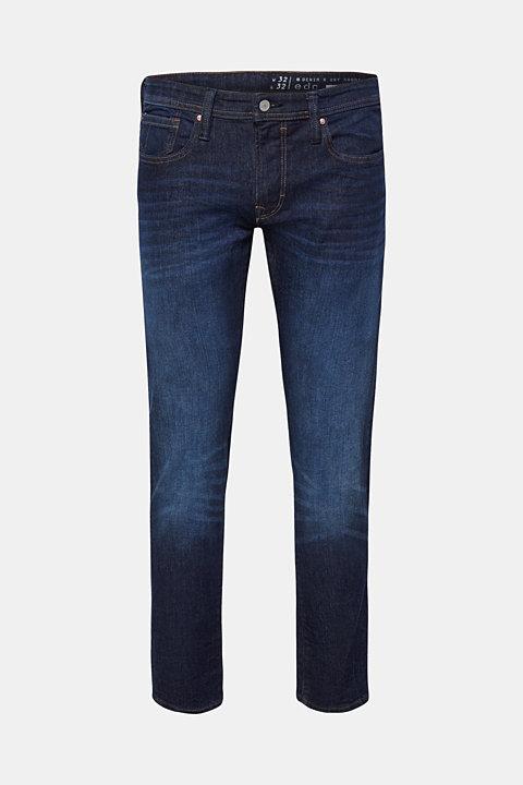 Vintage wash stretch jeans