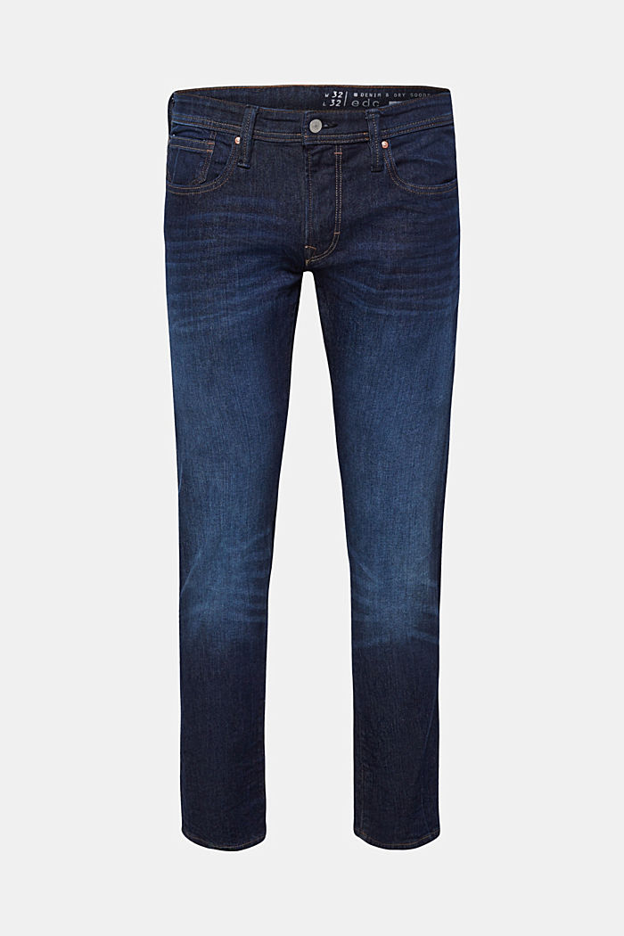 Stretch-Jeans mit Used-Waschung, BLUE DARK WASHED, detail image number 0
