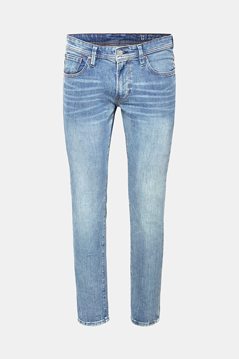 Vintage wash stretch jeans