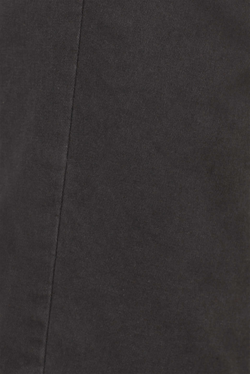 Stretch chinos with a faux leather belt, ANTHRACITE, detail image number 4