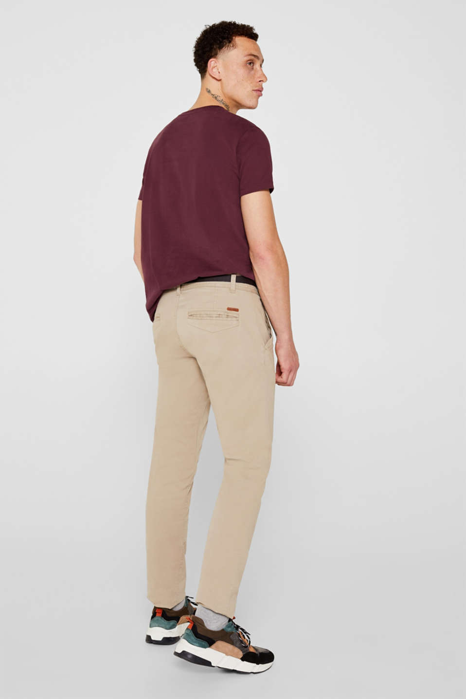 Stretch chinos, LIGHT BEIGE, detail image number 3