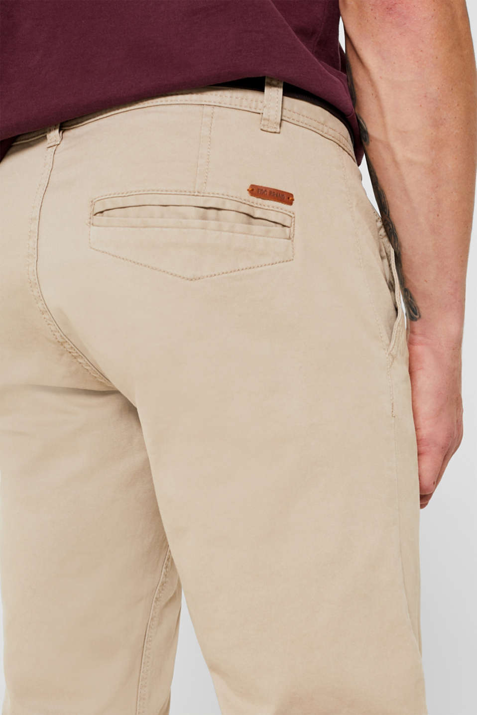 Stretch chinos, LIGHT BEIGE, detail image number 5