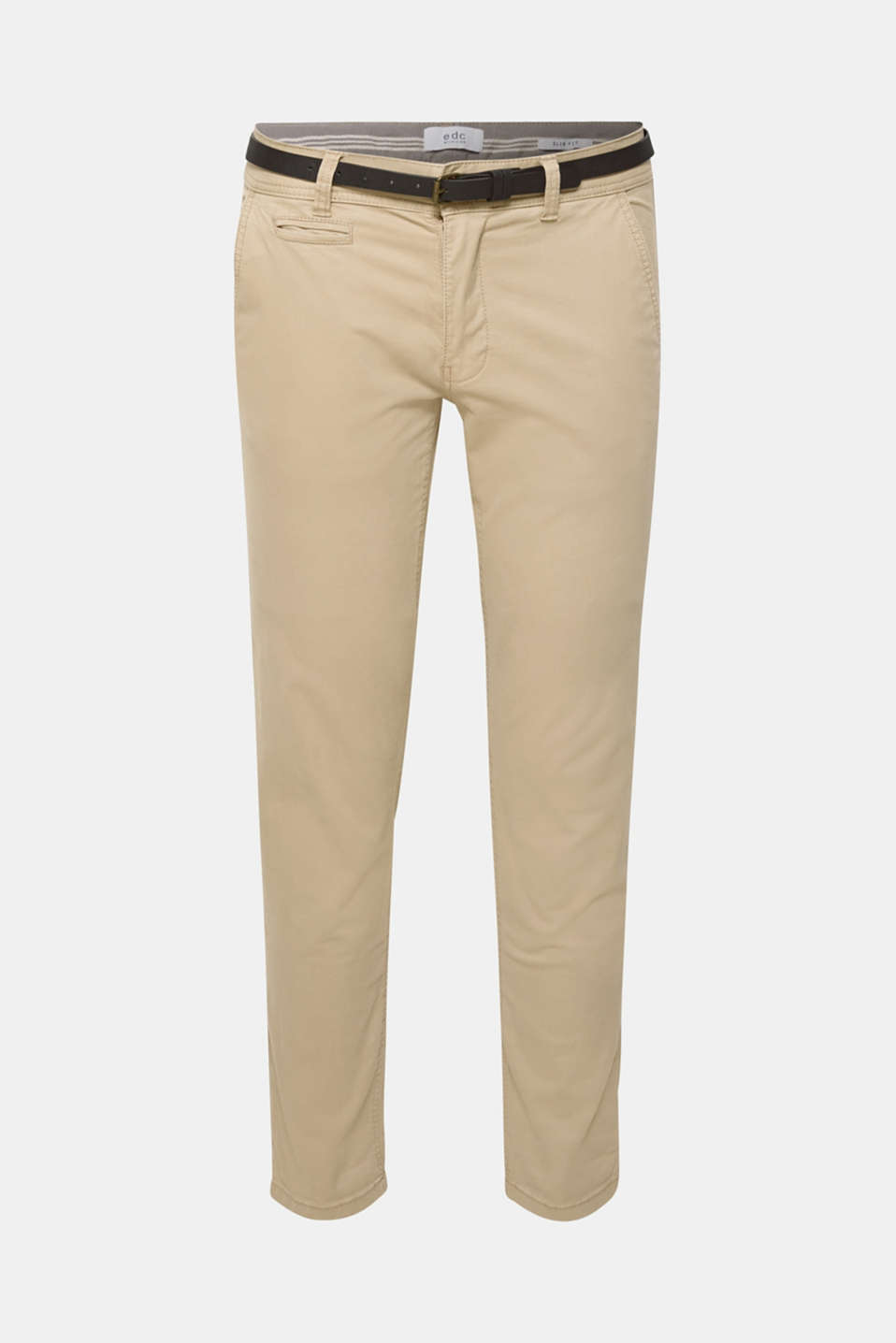 Stretch chinos, LIGHT BEIGE, detail image number 6