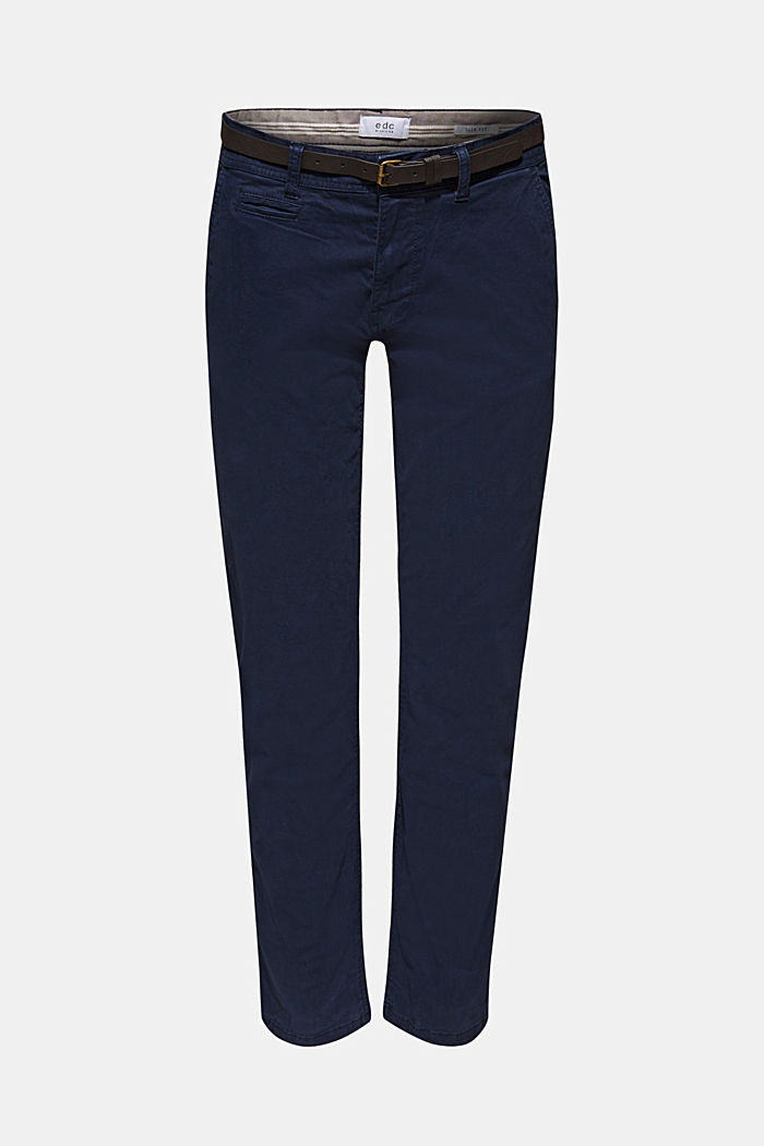 Stretch-Chino, NAVY, detail image number 6