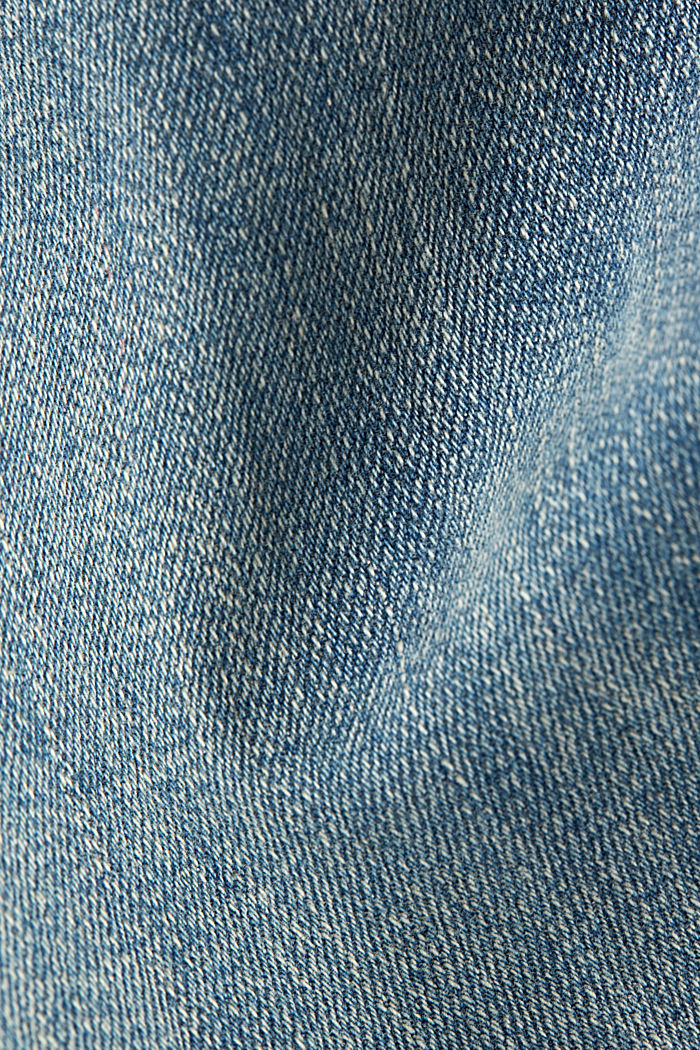 Super stretch jeans with vintage effects, BLUE LIGHT WASHED, detail image number 4