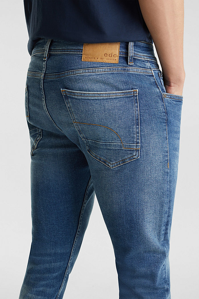 Basic jeans with stretch, BLUE MEDIUM WASHED, detail image number 3