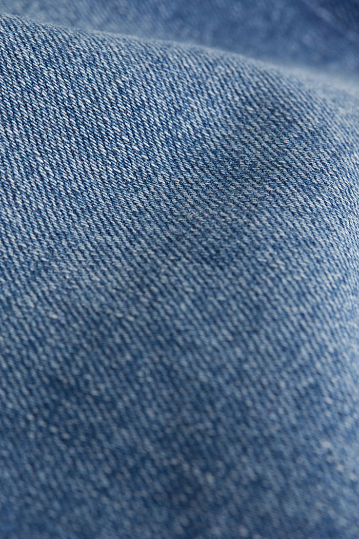 Basic jeans with stretch, BLUE MEDIUM WASHED, detail image number 4