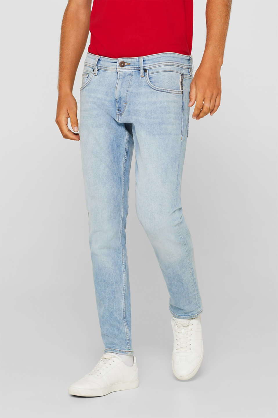 edc - Stretch jeans with a pale garment wash