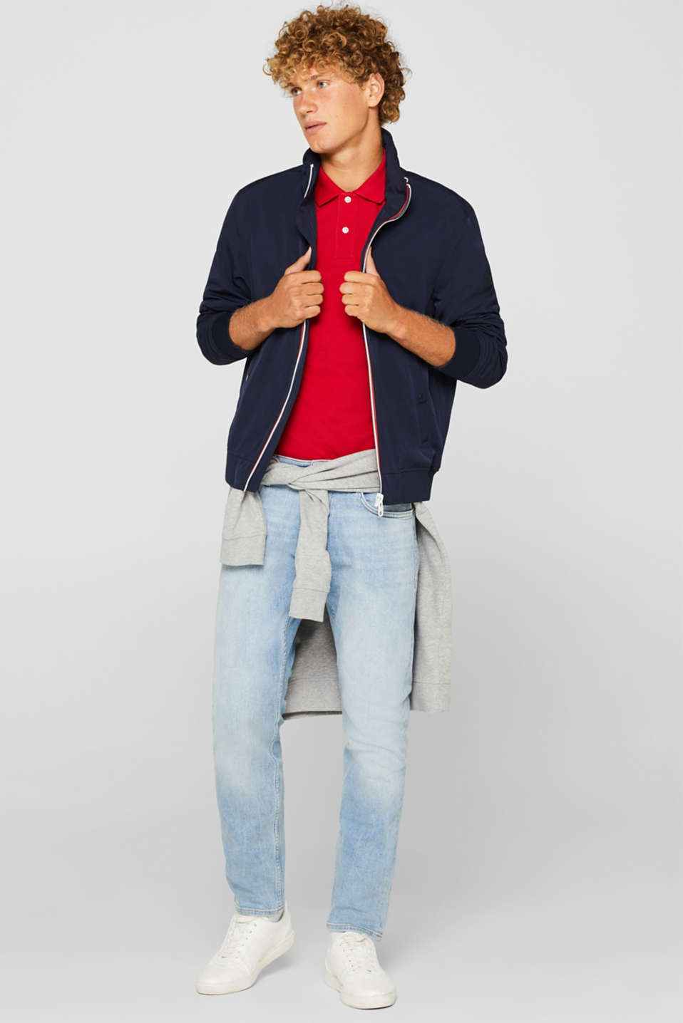 Pants denim Slim fit, BLUE LIGHT WASH, detail image number 2