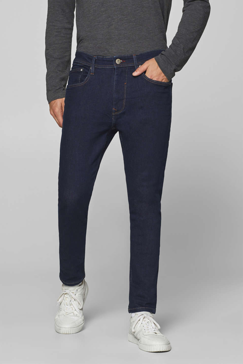 edc - Indigo-dyed stretch jeans