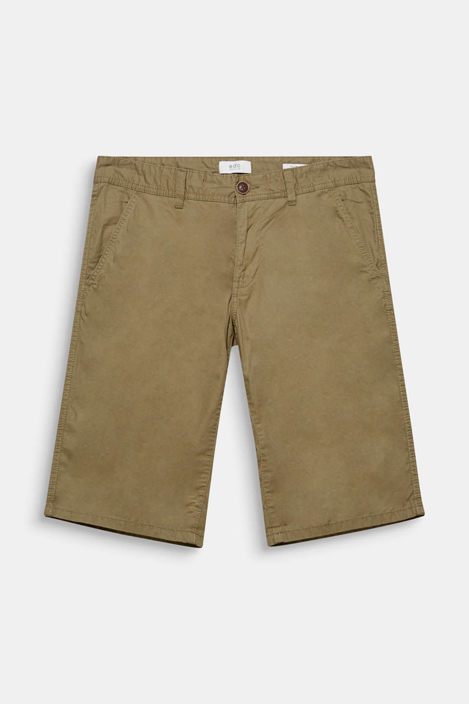 The fine minimal print gives these smooth chino shorts a subtle update.