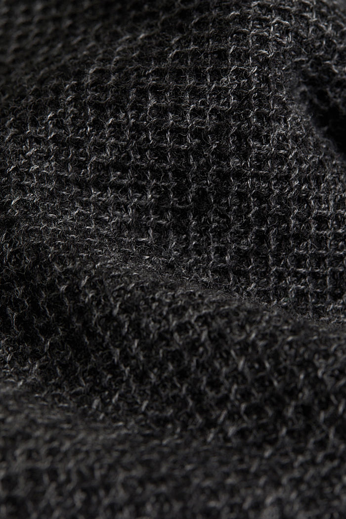 Textured jumper made of 100% cotton, BLACK, detail image number 4