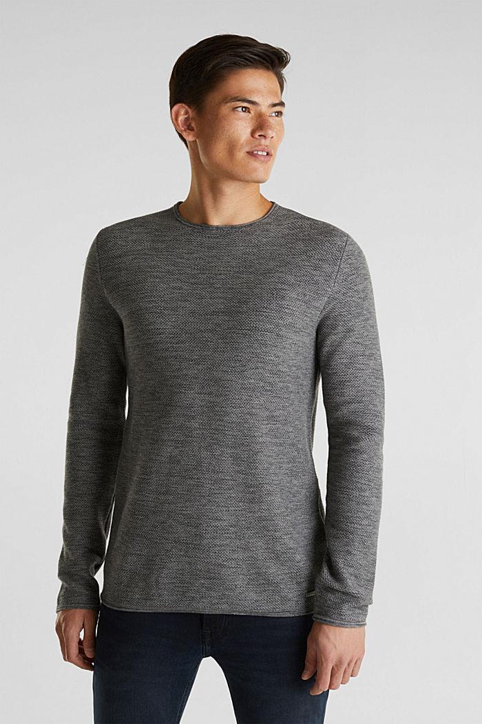 Struktur-Sweater aus 100% Baumwolle