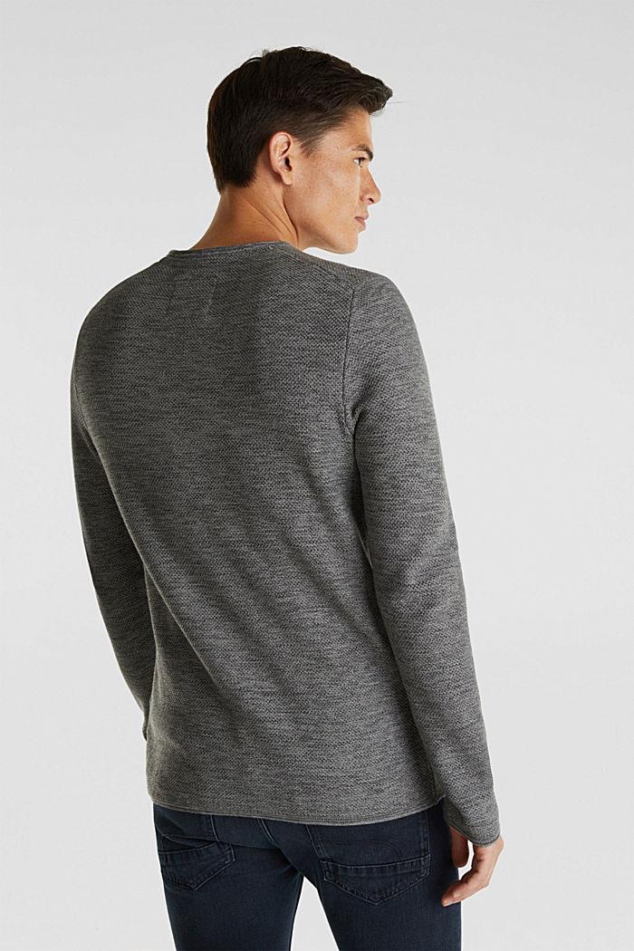 Struktur-Sweater aus 100% Baumwolle, MEDIUM GREY, detail image number 3