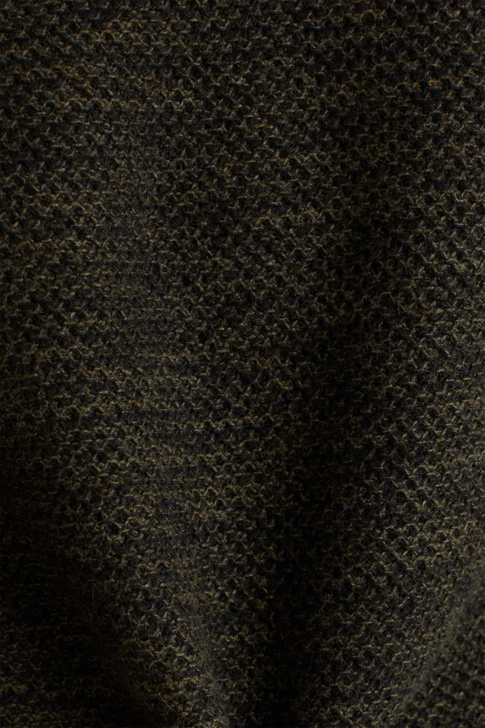 Textured jumper made of 100% cotton, KHAKI GREEN, detail image number 4