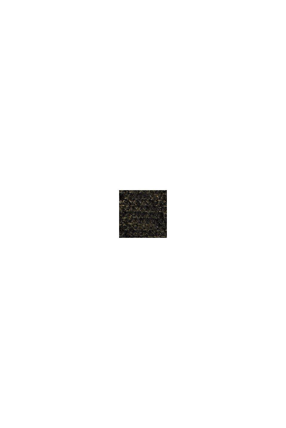 Gestructureerde trui van 100% katoen, KHAKI GREEN, swatch