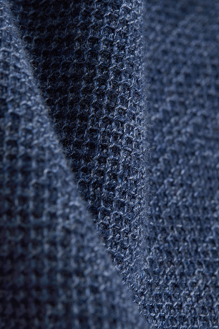 Struktur-Sweater aus 100% Baumwolle, NAVY, detail image number 4