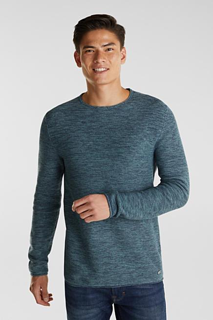 Zwarte Trui Met Leer.Esprit Gebreide Truien En Sweaters Voor Heren Kopen In De Online Shop