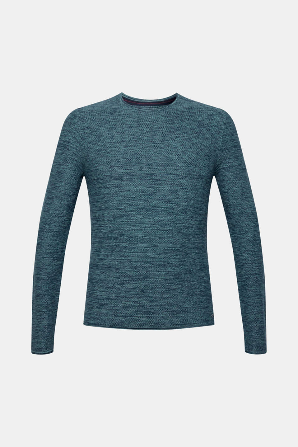 This essential piece is a must for every wardrobe: Textured knit jumper, 100% cotton.