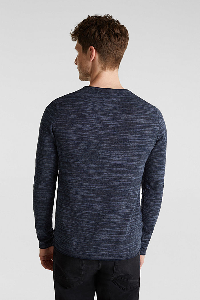 Two-tone jumper, cotton blend, NAVY, detail image number 2