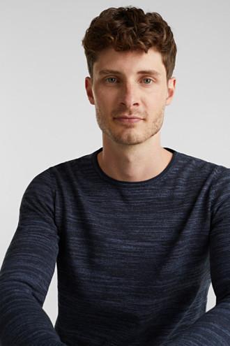 Two-tone jumper, cotton blend