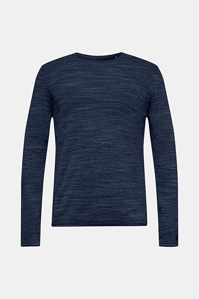 Two-tone jumper, cotton blend