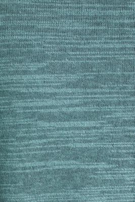 Jumper made of bi-colour blended cotton yarn, TURQUOISE, detail