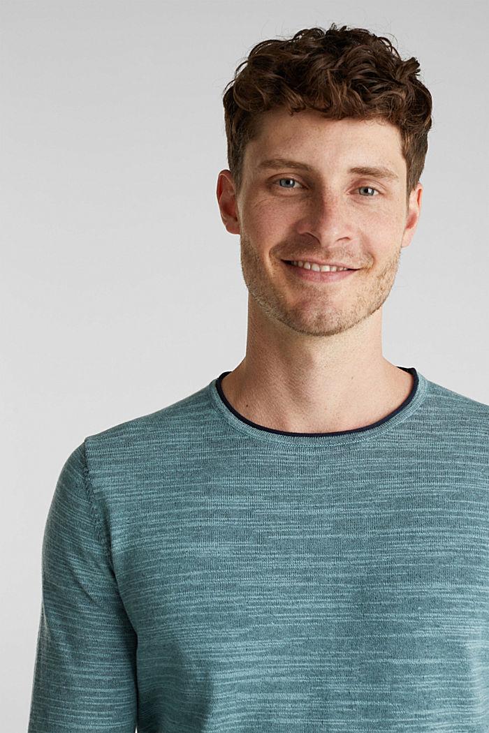 Zweifarbiger Pullover, Baumwoll-Mix