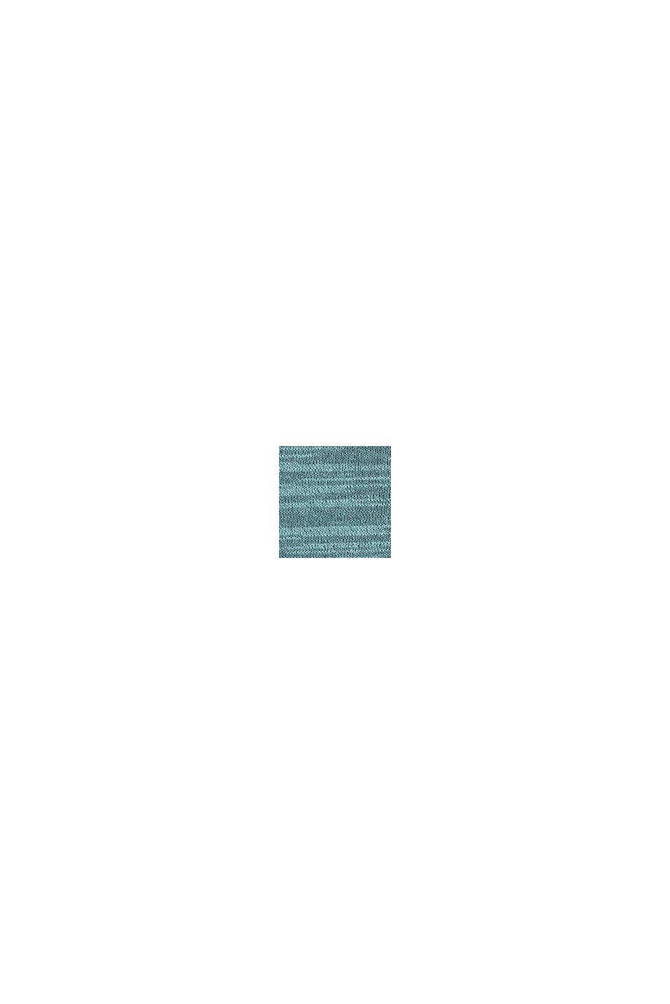 Zweifarbiger Pullover, Baumwoll-Mix, TURQUOISE, swatch