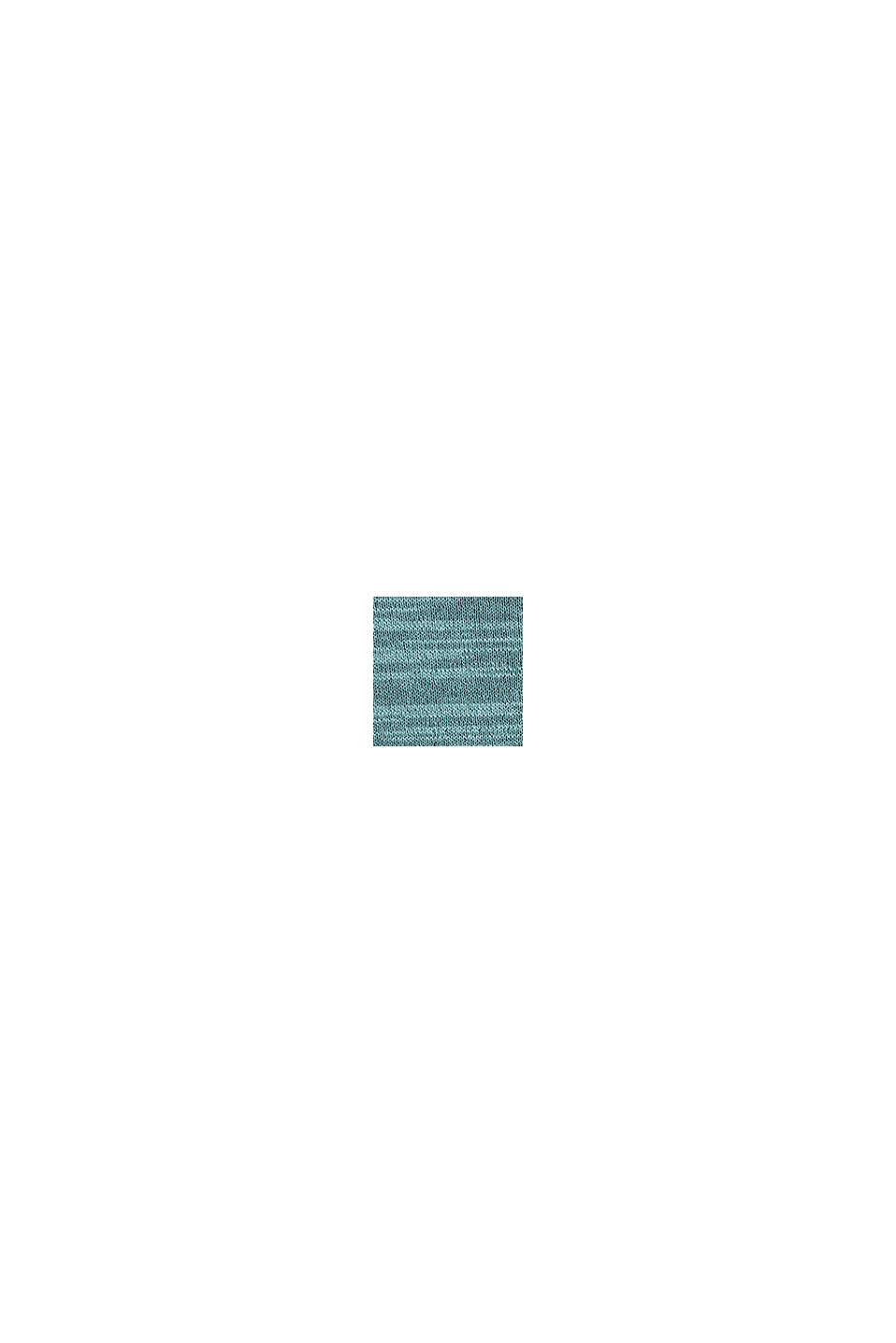 Tweekleurige trui, katoenmix, TURQUOISE, swatch
