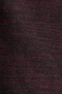 Jumper made of bi-colour blended cotton yarn, BORDEAUX RED, detail