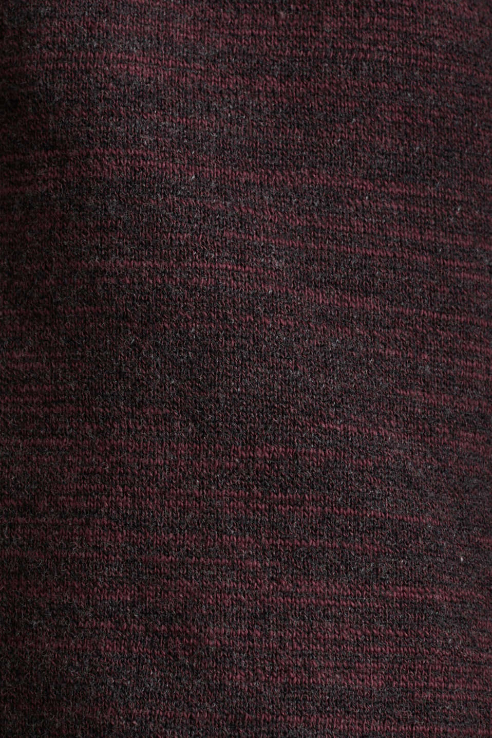 Jumper made of bi-colour blended cotton yarn, BORDEAUX RED, detail image number 4