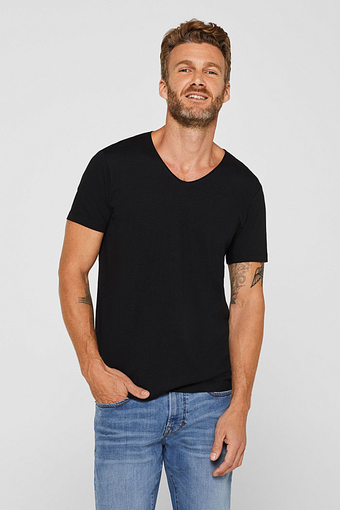 Jersey cotton top, BLACK, detail image number 0