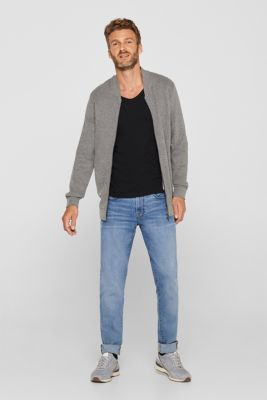Jersey cotton top, BLACK, detail