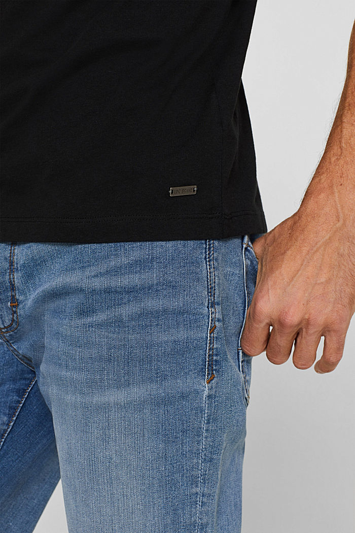 Jersey cotton top, BLACK, detail image number 1