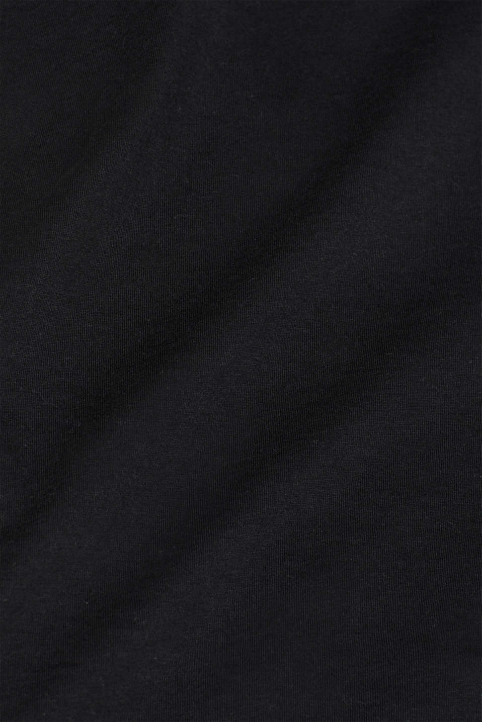 Jersey cotton top, BLACK, detail image number 5