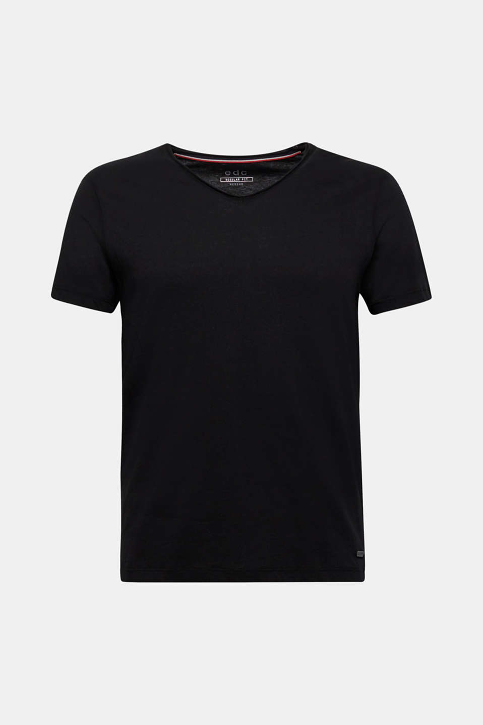 Jersey cotton top, BLACK, detail image number 7