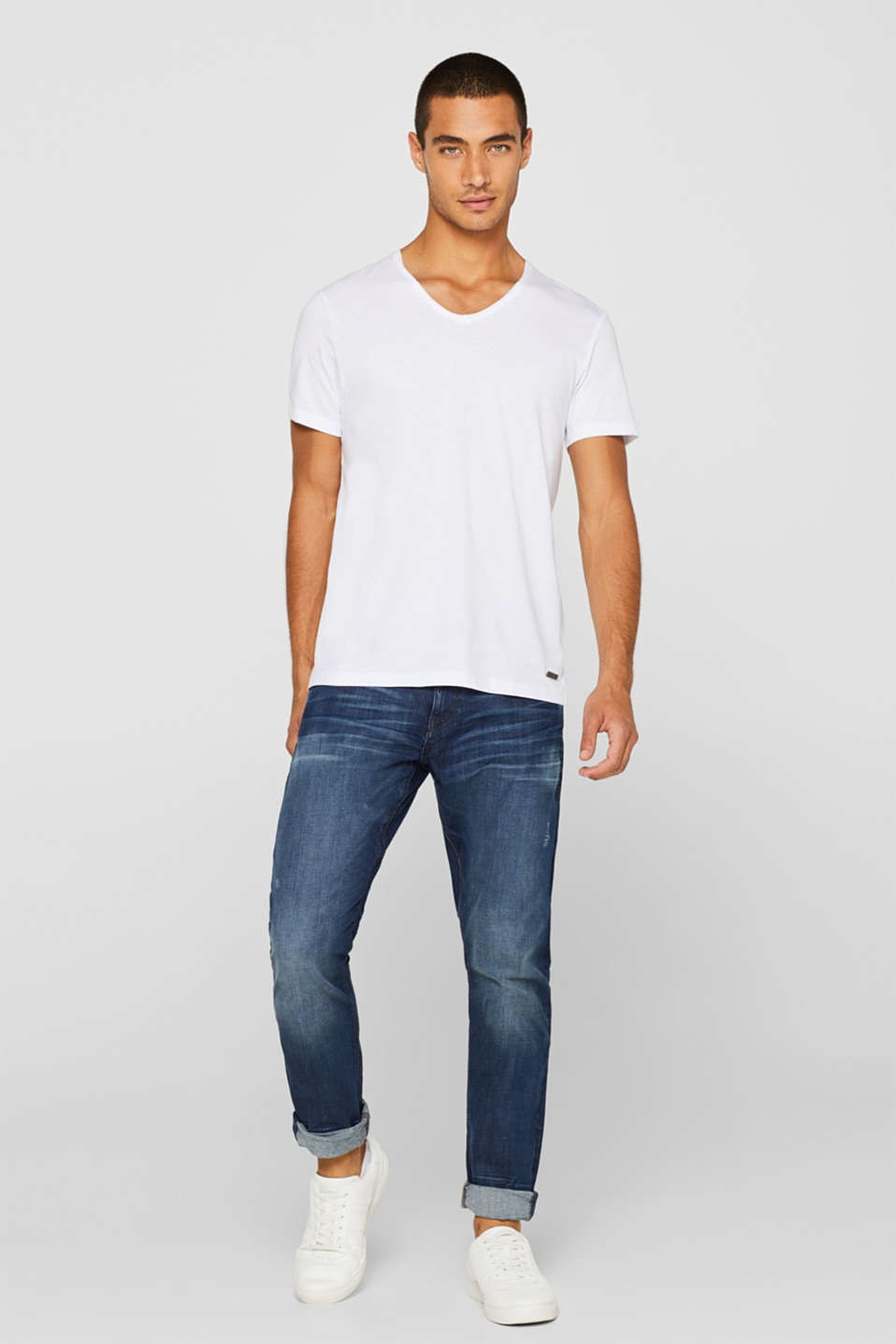 Jersey cotton top, WHITE, detail image number 2