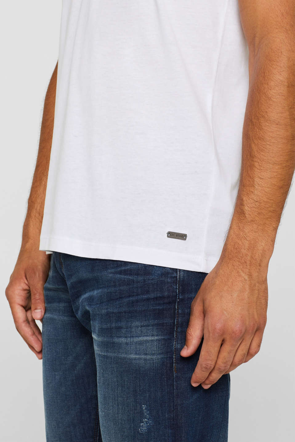 Jersey cotton top, WHITE, detail image number 1