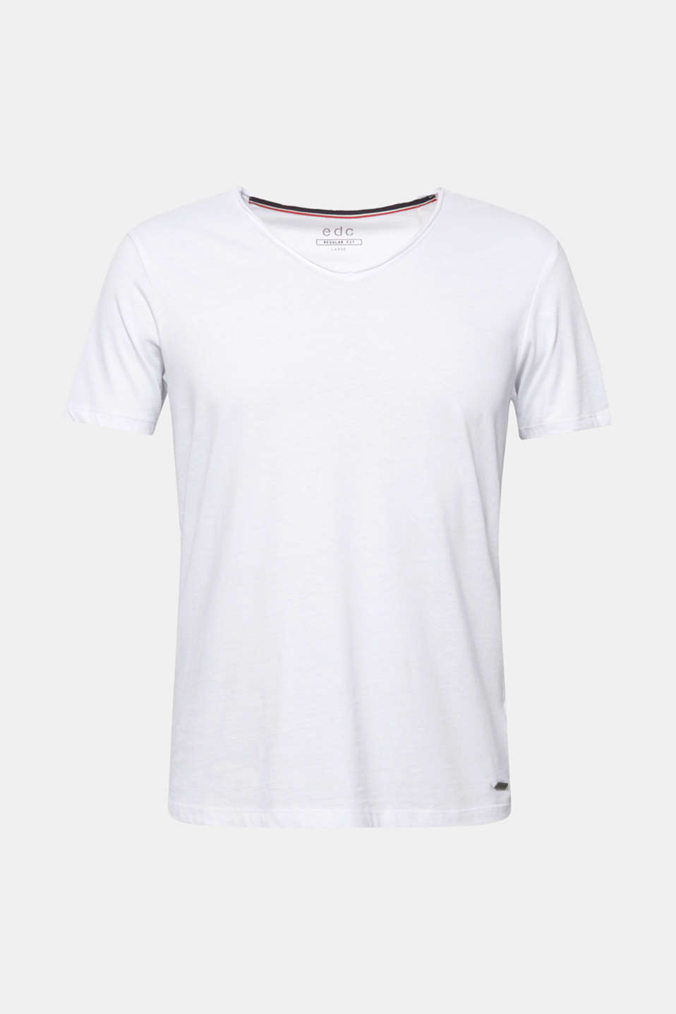 Jersey cotton top, WHITE, detail image number 6