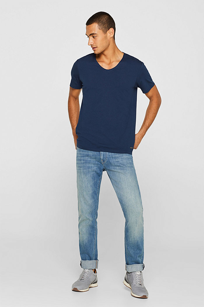 Jersey cotton top, NAVY, detail image number 2