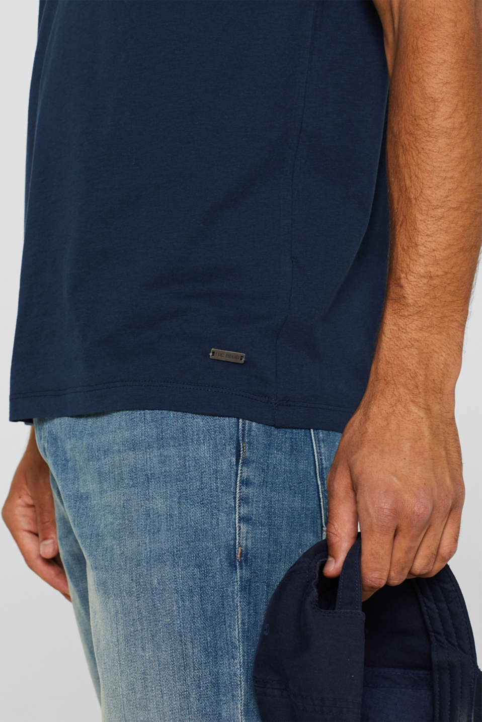 Jersey cotton top, NAVY, detail image number 1