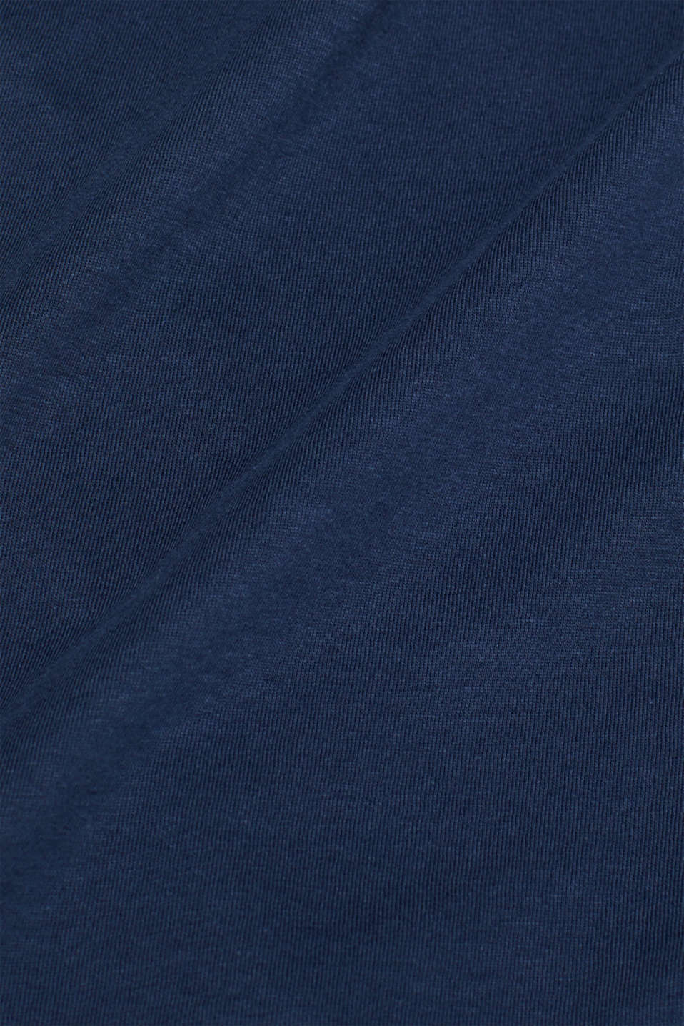 Jersey cotton top, NAVY, detail image number 4