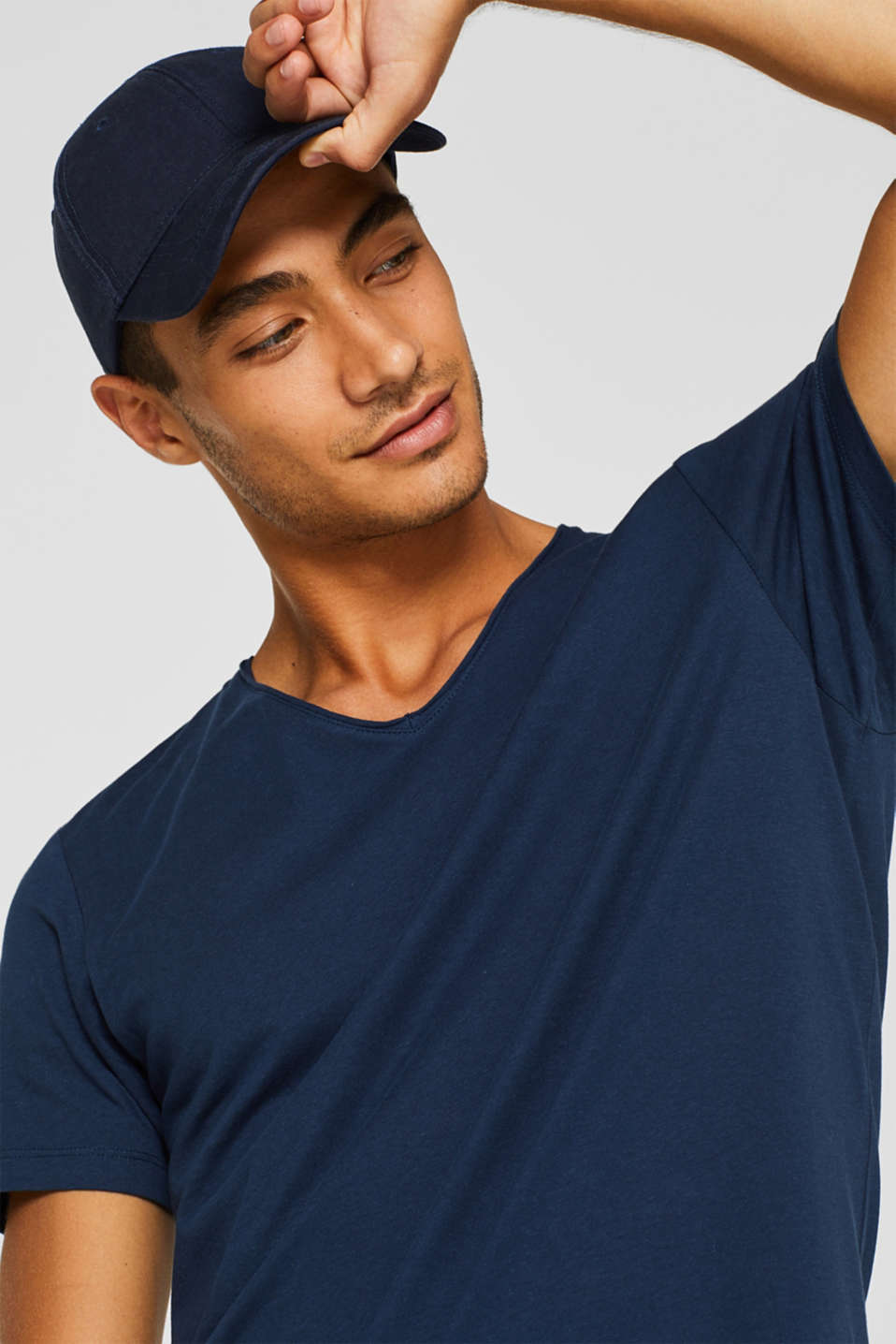 Jersey cotton top, NAVY, detail image number 5