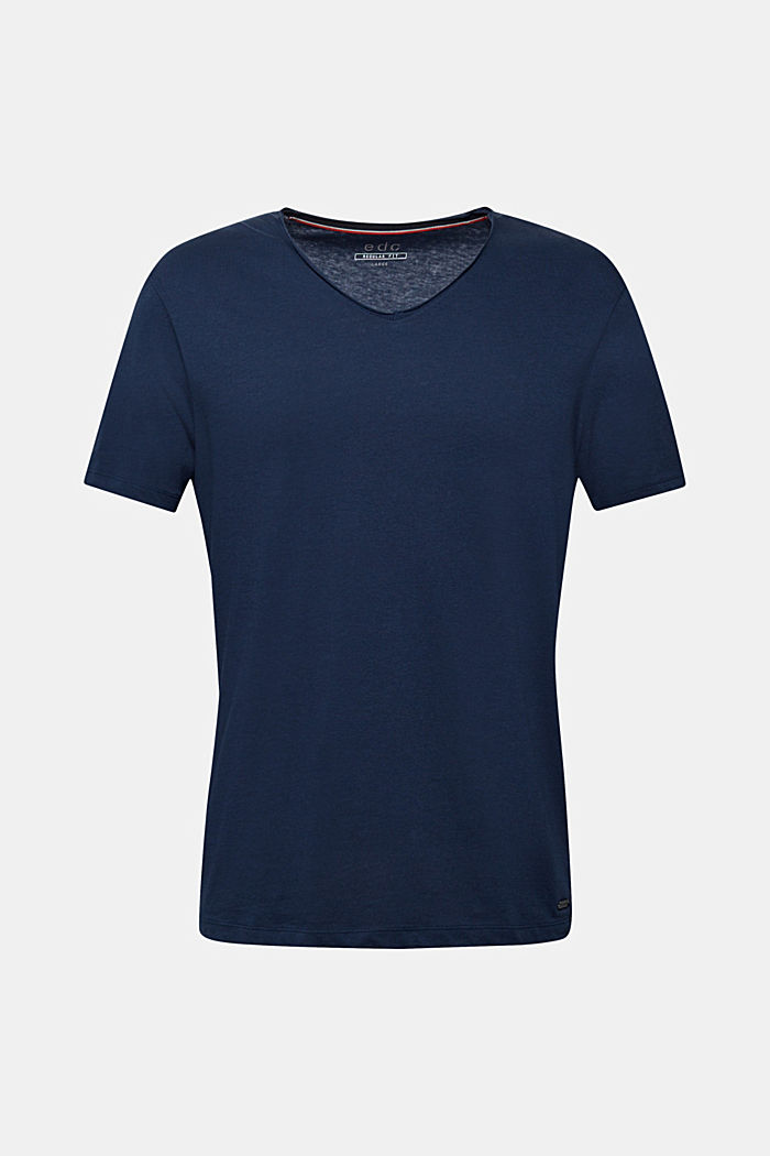 Jersey cotton top, NAVY, detail image number 6