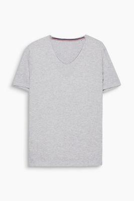 Jersey shirt made of organic cotton, MEDIUM GREY, detail